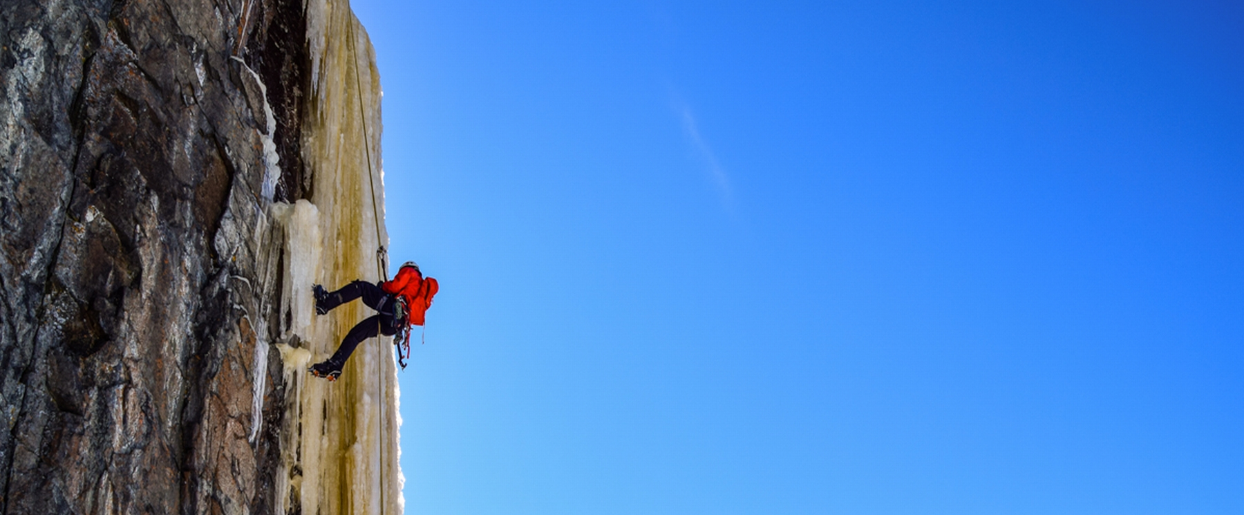 person rock climbing - photo credit Outdoor Skills and Thrills