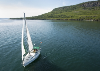 Sailing in Lake Superior