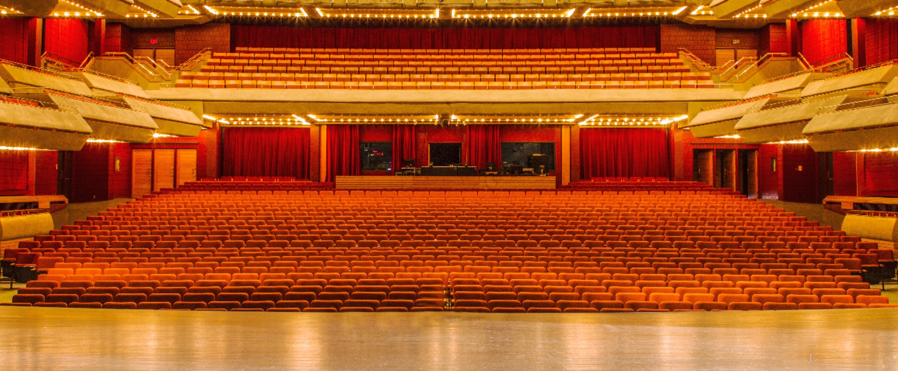 view of empty auditorium from stage