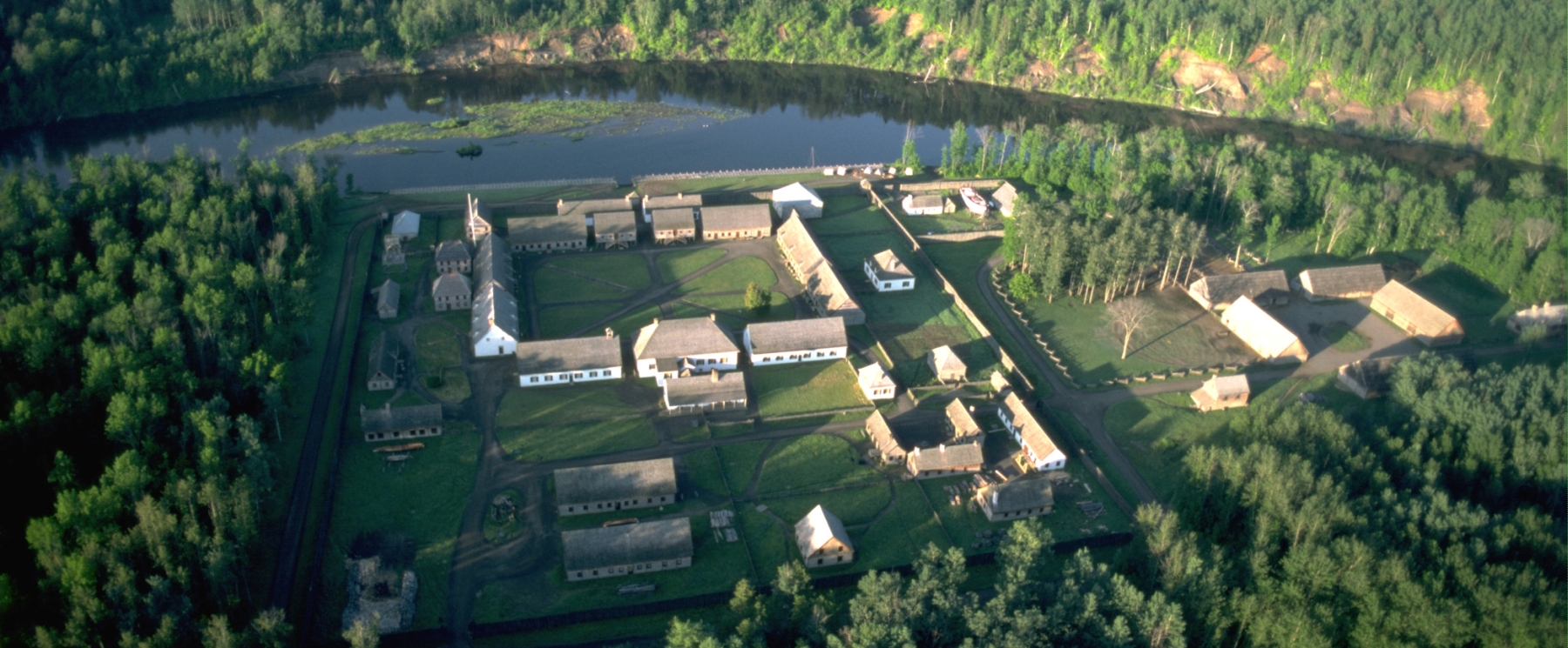 aerial viiew of Fort William Historical Park