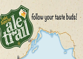 ale trail logo on a map